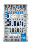 Seattle, Washington - Museum of Flight Typography Print by  Lantern Press