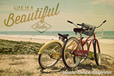 Santa Monica, California - Beach Cruiser - Senitment Posters by  Lantern Press