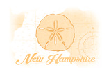 New Hampshire - Sand Dollar - Yellow - Coastal Icon Poster by  Lantern Press