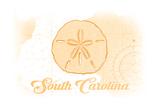 South Carolina - Sand Dollar - Yellow - Coastal Icon Posters by  Lantern Press