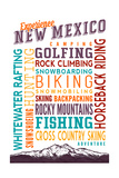 New Mexico - Experience Typography Posters by  Lantern Press