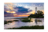 Tallahassee, Florida - St. Marks Lighthouse Print by  Lantern Press