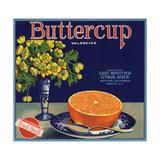 Buttercup Brand - Whittier, California - Citrus Crate Label Premium Giclee Print by  Lantern Press