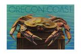 Oregon Coast - Dungeness Crab Vintage Postcard Prints by  Lantern Press