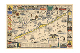 Long Beach Island, New Jersey - Vintage Map - Artwork Poster by  Lantern Press
