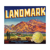 Landmark Brand - Phoenix, Arizona - Citrus Crate Label Prints by  Lantern Press