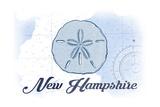 New Hampshire - Sand Dollar - Blue - Coastal Icon Art by  Lantern Press