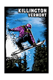 Killington, Vermont - Snowboarder - Scratchboard Posters by  Lantern Press