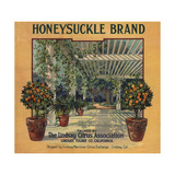 Honeysuckle Brand - Lindsay, California - Citrus Crate Label Posters by  Lantern Press