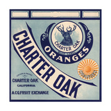 Charter Oak Brand - Charter Oak, California - Citrus Crate Label Posters by  Lantern Press