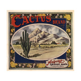 Cactus Brand - Phoenix, Arizona - Citrus Crate Label Poster by  Lantern Press