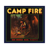 Camp Fire Brand - Ojai, California - Citrus Crate Label Posters by  Lantern Press
