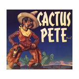 Cactus Pete Brand - Phoenix, Arizona - Citrus Crate Label Prints by  Lantern Press