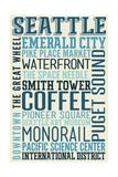 Seattle, Washington - Typography Posters by  Lantern Press