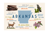 Little Rock, Arkansas - Typography and Icons Prints by  Lantern Press