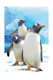 Gentoo Penguins Posters by  Lantern Press