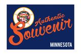 Visited Minnesota - Authentic Souvenir Prints by  Lantern Press