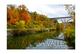 Cuyahoga Valley National Park, Ohio - Fall Foliage and Bridge Prints by  Lantern Press