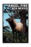 Angel Fire, New Mexico - Elk - Scratchboard Posters by  Lantern Press
