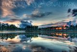 Everglades National Park, Florida - Orange Sky and Water Art by  Lantern Press