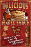 Canada - Vintage Maple Syrup Sign Poster by  Lantern Press
