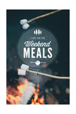 I Live for the Weekend Meals Prints by  Lantern Press
