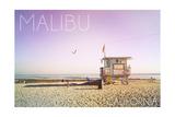 Malibu, California - Lifeguard Shack Sunrise Prints by  Lantern Press