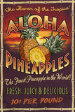 Aloha Pineapples - Vintage Sign Prints by  Lantern Press