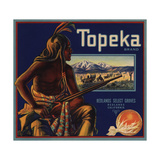Topeka Brand - Redlands, California - Citrus Crate Label Prints by  Lantern Press