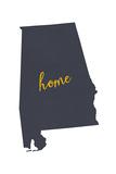 Alabama - Home State- Gray on White Poster von  Lantern Press