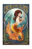 Catalina Island, California - Mermaid Art by  Lantern Press