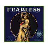 Fearless Brand - Orange, California - Citrus Crate Label Premium Giclee Print by  Lantern Press