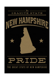 New Hampshire State Pride - Gold on Black Posters by  Lantern Press