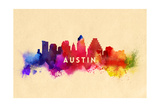 Austin, Texas - Skyline Abstract Prints by  Lantern Press