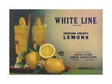 White Line Brand - Oxnard, California - Citrus Crate Label Posters by  Lantern Press