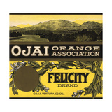 Felicity Brand - Ojai, California - Citrus Crate Label Prints by  Lantern Press