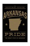 Arkansas State Pride - Gold on Black Poster von  Lantern Press