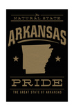 Arkansas State Pride - Gold on Black Posters by  Lantern Press