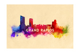 Grand Rapids, Michigan - Skyline Abstract Posters by  Lantern Press