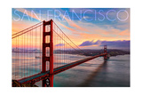 San Francisco, California - Golden Gate Aerial View Posters by  Lantern Press