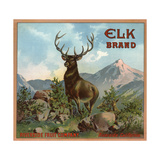 Elk Brand - Riverside, California - Citrus Crate Label Posters by  Lantern Press
