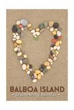Balboa Island, California - Stone Heart on Sand Posters by  Lantern Press