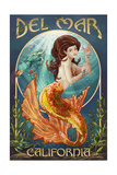 Del Mar, California - Mermaid Posters by  Lantern Press