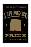 New Mexico State Pride - Gold on Black Posters by  Lantern Press