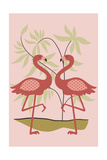 Simple Flamingo - Pink Prints by  Lantern Press