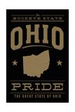 Ohio State Pride - Gold on Black Prints by  Lantern Press