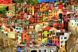 Manarola, Italy - Colorful Houses Posters by  Lantern Press