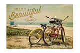 Corpus Christi, Texas - Life is a Beautiful Ride - Beach Cruisers Posters by  Lantern Press