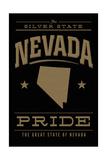 Nevada State Pride - Gold on Black Prints by  Lantern Press