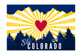 Ski Colorado - Heart and Treeline Posters by  Lantern Press